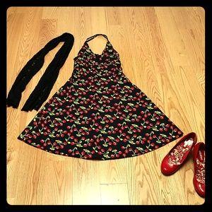 Vintage style rockabilly halter dress